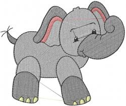 Ella The Elephant embroidery design