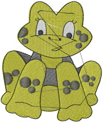 Frank The Frog embroidery design