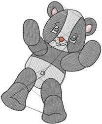 Billy the Bear embroidery design