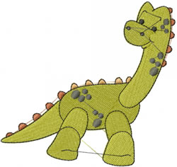 Danny The Dinosaur embroidery design