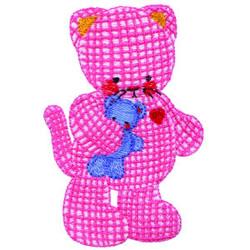 Stuffed Kitty embroidery design