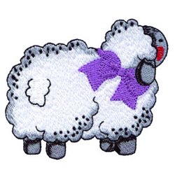 Stuffed Lamb embroidery design