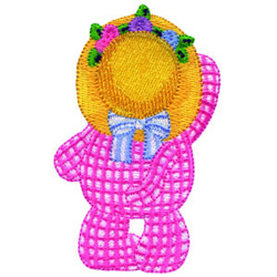 Kitty In Hat embroidery design