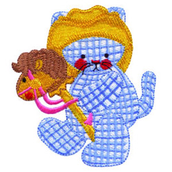 Cowboy Kitty embroidery design