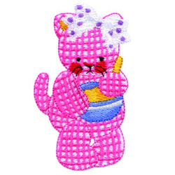 Kitty Cooking embroidery design