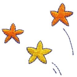 Three Stars embroidery design