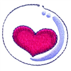 Heart In A Bubble embroidery design