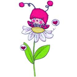 Love Ladybug embroidery design