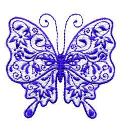 Majestic Butterfly embroidery design
