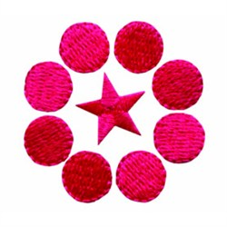 Circle & Star embroidery design