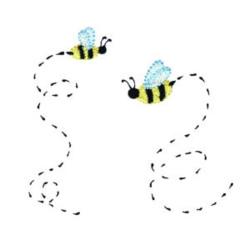 Noahs Ark Bees embroidery design