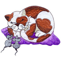 Calico And Mice embroidery design