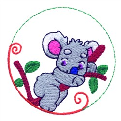 Cartoon Koala embroidery design