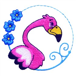 Cartoon Flamingo embroidery design