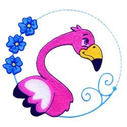 Cartoon Flamingo embroidery design