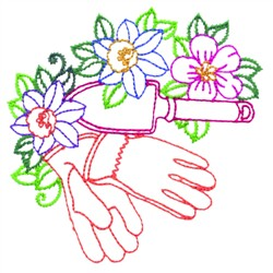 Garden Gloves embroidery design
