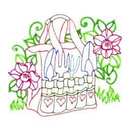 Garden Tool Bag embroidery design