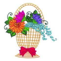 Pretty Flower Basket embroidery design