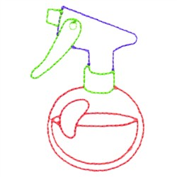 Spray Bottle embroidery design