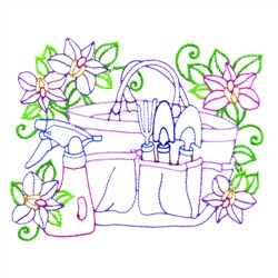 Gardening Bag embroidery design