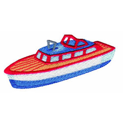 Toy Boat embroidery design