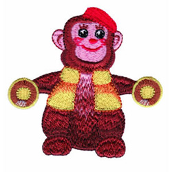 Toy Monkey embroidery design