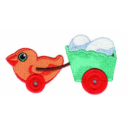 Duck Pull Toy embroidery design