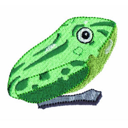 Wind Up Frog embroidery design