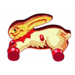 Ride On Rabbit embroidery design