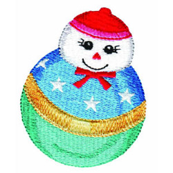 Snowman Weeble embroidery design