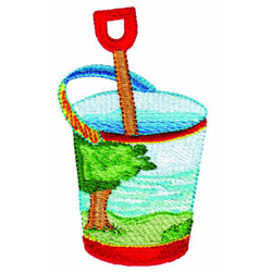 Sand Bucket embroidery design