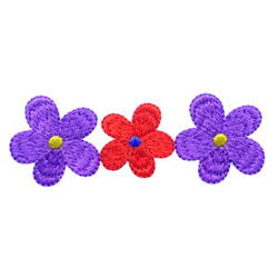 Three Flowers embroidery design