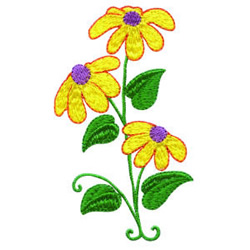 Black Eyed Susans embroidery design