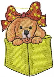 Puppy In Box embroidery design