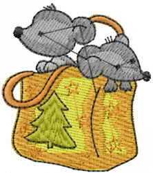 Mice In Bag embroidery design