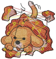 Puppy Trouble embroidery design