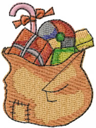 Presents In Sack embroidery design