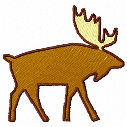Moose Patch embroidery design