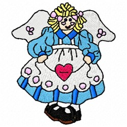 Toy Doll Fairy embroidery design