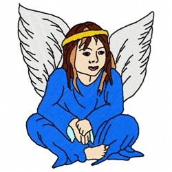 Native American Angel embroidery design