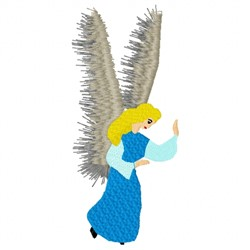 Feathered Angel embroidery design
