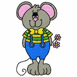 Boy Mouse embroidery design