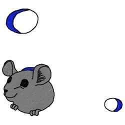 Hole Mouse embroidery design