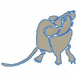 Mouse Stencil embroidery design