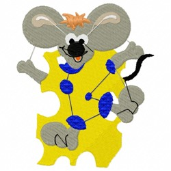 Mouse In Cheese embroidery design