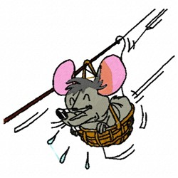 Playful Mouse embroidery design