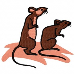 Rats embroidery design