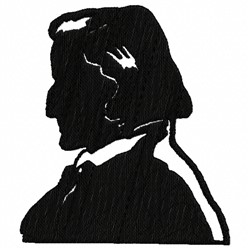 Chopin Silhouette embroidery design