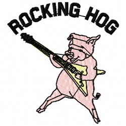 Ricking Hog embroidery design