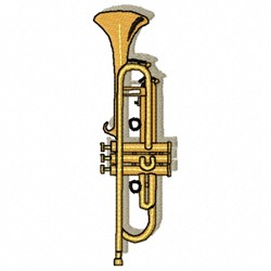 Trumpet Instrument embroidery design